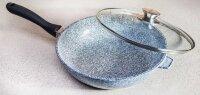 Сковорода WOK - Гранитное покрытие с крышкой - 28 см. Benson BN-521
