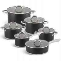 Набор посуды из 12 предметов (кастрюли, ковш, сковорода) Edenberg EB-4053