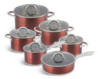 Набор посуды из 12 предметов (кастрюли, ковш, сковорода) Edenberg EB-4054