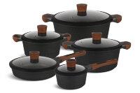Набор посуды из 10 предметов (кастрюли, сковорода, ковш) Edenberg с мраморным покрытием EB-5648