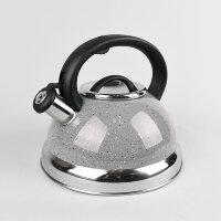 Чайник (нержавейка) 3л со свистком - Maestro - MR-1313C Серый