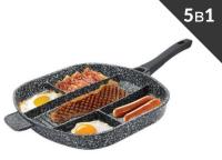 Сковорода Гранитное покрытие без крышкой 5в1 - 39x33x5 Edenberg EB-3306