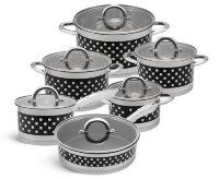 Набор посуды из 12 предметов (кастрюли, ковш, сковорода) Edenberg EB-4056