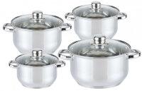 Набор посуды из 8 предметов (кастрюли) Edenberg из нержавеющей стали EB-3734