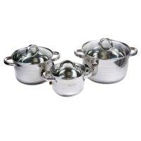 Набор посуды из 6 предметов (кастрюли) Edenberg из нержавеющей стали EB-4071