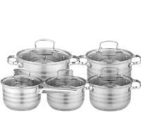 Набор посуды из 10 предметов (кастрюли и ковш) Edenberg из нержавеющей стали EB-4074